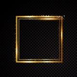 Vector vierkant kader Glanzende banner Stock Afbeelding