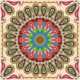 Vector vierkant mandalapatroon als voorbeeld om boek voor volwassenen te kleuren De pagina voor ontspant en meditatie Mexicaanse  stock illustratie