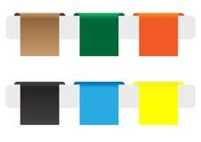 Vector vierkante geplaatste etiketten Royalty-vrije Stock Foto