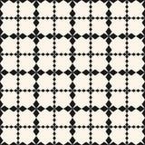 Vector vierkante nettextuur Abstract geometrisch naadloos patroon Stock Foto's