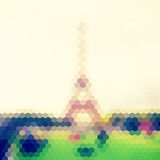 Vector view on Eiffel Tower, Paris, France. Blur background made Stock Photos