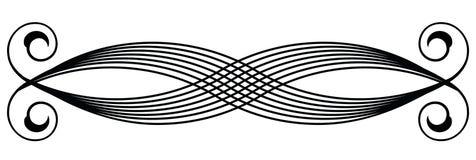 Vector vignet op wit Royalty-vrije Illustratie