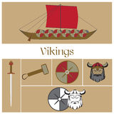 Vector viking warrior Stock Images