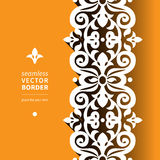 Vector viktorianische dekorative Grenze in der flachen Designart Stockbild