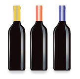 Vector vine bottles Stock Images