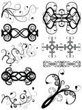 Vector Vine Silhouette Elements. Nine ornate vector vines design elements silhouettes. Size and color as you wish vector illustration