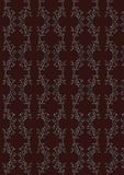 Vector vinous seamless pattern. With white ornament Stock Photo