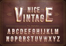Vector of Vintage alphabet and bold font. Exclusive Vintage Letters Typography stock illustration