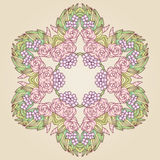 Vector vintage art nouveau floral rose frame Royalty Free Stock Images