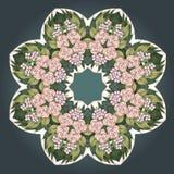 Vector vintage art nouveau floral rose frame Royalty Free Stock Image