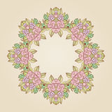 Vector vintage art nouveau floral rose frame Royalty Free Stock Photo