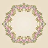 Vector vintage art nouveau floral rose frame Stock Photo