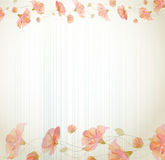 Vector vintage background with flowers Royalty Free Stock Photo