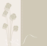 Vector vintage background with flowers in pastel c Stock Images