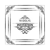 Vector vintage background and frame with sample text, for wedding invitation or announcement Stock Images