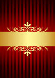 Background with gold decoration Royalty Free Stock Photos
