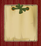 Vector vintage background with a green ribbon Stock Photo