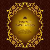 Vector vintage background in a luxurious royal style, template to create invitations, greeting cards, covers. Royalty Free Stock Photos