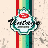 Vector vintage background Royalty Free Stock Photo