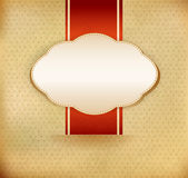 Vector vintage background with ribbon Stock Photography