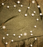 Vector vintage background with strings of pearls Stock Images