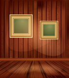 Vector vintage background with two gold frames Stock Photo