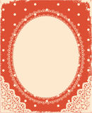 Vector vintage background with vintage frame Stock Photography