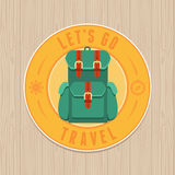 Vector vintage badge - flat icon. Travel concept Stock Image