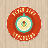 Vector vintage badge - flat icon. Travel concept Royalty Free Stock Photography