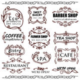 Vector vintage badges for shops Stock Photography