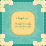 Vector vintage banner with sweet cream corners Royalty Free Stock Photography