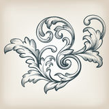 Vector vintage Baroque border scroll design royalty free illustration