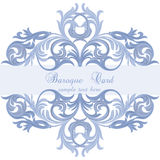 Vector Vintage Baroque card Stock Photography