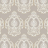 Vector Vintage Baroque Damask Pattern element Imperial style Royalty Free Stock Image