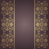 Vector vintage ,baroque flowers background Stock Photos
