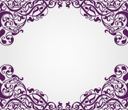 Vector vintage Baroque frame corner  ornate Royalty Free Stock Photography