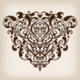 Vector vintage Baroque frame corner  ornate Stock Images