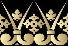 Vector seamless pattern. Vector decorative baroque ornamental golden border. Vector vintage baroque seamless pattern Stock Images