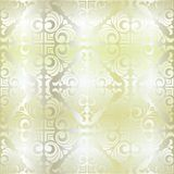 Vector vintage baroque seamless pattern in golden style on black background Royalty Free Stock Photography