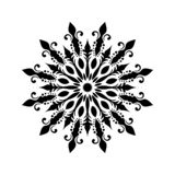 Vector vintage Beautiful monochrome black and white flowers and leaves isolated. vector illustration