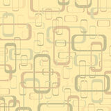Vector vintage beige and yellow geometric pop design wallpaper b Royalty Free Stock Image