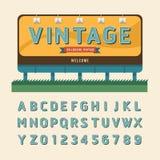 Vector vintage billboard sign, vintage signboard, vintage banner Royalty Free Stock Image