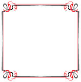 Vector vintage black and red frame Stock Photo