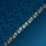 Vector vintage blue and gold Royalty Free Stock Photography