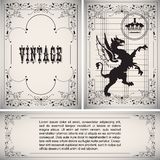 Vector vintage border Stock Photography