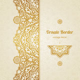 Vector vintage border in Eastern style. Royalty Free Stock Photo