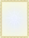 Vector vintage border frame with Christmas symbols Royalty Free Stock Images
