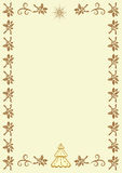 Vector vintage border frame with Christmas symbols Stock Photography