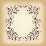 Vintage border frame engraving baroque vector Stock Photos