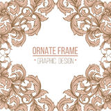 Vector vintage border frame Royalty Free Stock Photo